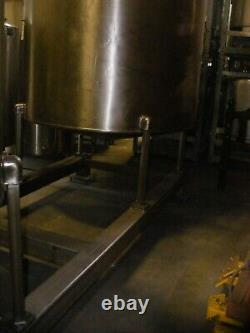 1,000 Gallon Stainless Steel Open Mix Top Tank in NJ