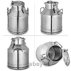 10-60L Stainless Steel Milk Can Wine Pail Bucket Tote Jug in One Piece