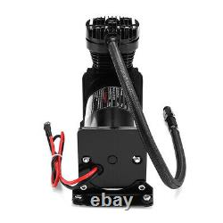 10 GAL 12V 200 PSI 444C Max Horn Air Compressor With Relays Switch Truck