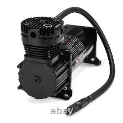 10 GAL 12V 200 PSI 444C Max Horn Air Compressor With Relays Switch Truck Boat US