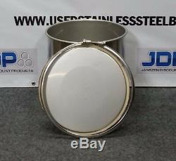 10 Gallon Stainless Steel Open Top Drum