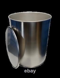 100 gallon stainless steel open top barrel drum