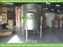 1000 GALLON Perma-San Stainless Steel Holding Tank