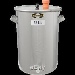 12 Gal (45 L) Speidel Stainless Steel Fermentation & Storage Tank Beer Wine Brew