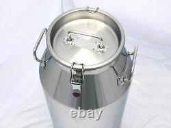 13 Gallon Milk Can, Stainless Steel 50 Qt, Heavy Duty Sides, Strong, Sealed Lid