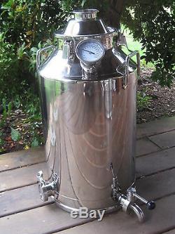 13 Gallon Stainless Steel, Moonshine Whiskey Still Boiler kettle 2 lid