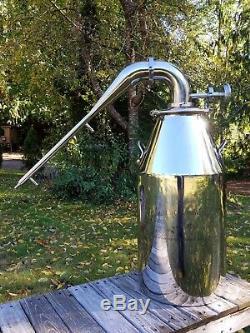 13 gallon 3 stainless steel pot still gas heat fire moonshine water distiller