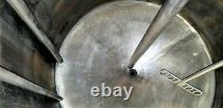 140 Gallon Stainless Steel Cone Bottom Pneumatic Mixing Tank SEE VIDEO
