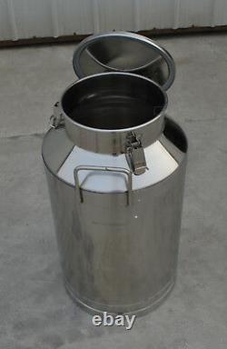 15.8Gallon Stainless Steel Milk Pail Farm Water Milk Wine Bucket Lid Storage New