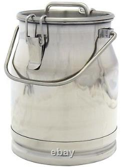 2.6 Gal. Stainless Steel Milk Can, Heavy Duty, Strong, Sealed Lid, 10 Ltr (New)