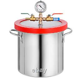 2 Gallon Vacuum Chamber & 4 CFM Single Stage Pump Degassing Silicone Kit 1/3HP