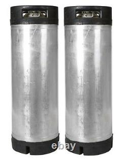 2 PK 5 Gallon Ball Lock Kegs Reconditioned Homebrew Beer & Coffee + O-Ring Kit
