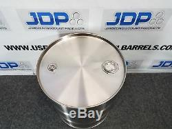 20 Gallon Stainless Steel Barrel Drum Closed Top NEW