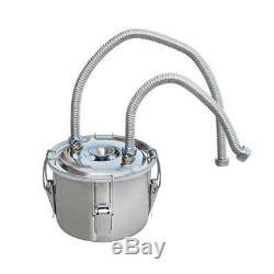 20L 3 Pots 5Gal Alcohol Distiller Moonshine Still Boiler Stainless Steel Copper