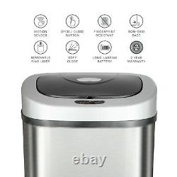 21 Gallon Motion Sensor Trash Can Garbage Touchless Stainless Steel Kitchen Home