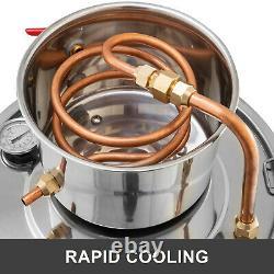 21L 5Gal Alcohol Distiller Copper Wine Maker Water Still Stainless Boiler