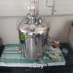 26 Gallon 100L Home Alcohol Moonshine Still with 4 Glass Flute Column