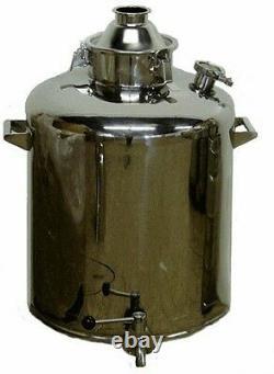26 gallon stainless milk can kettle moonshine e85 boiler 2, 3 4 still column