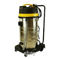 26Gallon Commercial Stainless Steel Wet Dry 7 Peak HP 2000W