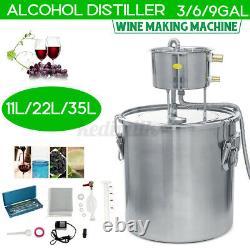 2POT 9GAL DIY Alcohol Distiller Brewing Kit Moonshine Still Stainless Wine Boile
