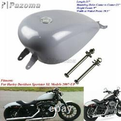 3.3 Gallon Motorcycle EFI Gas /Fuel Tank For 2007-UP Harley Sportster XL Custom