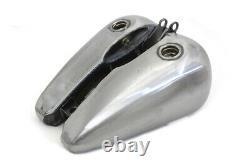 3.5 Gallon Flatside Bobbed Fuel Split Gas Tank Shift Lever 84-99 Harley Softail