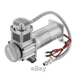 3 GAL 4 Trumpet Air Horn Tank 200PSI Compressor Onboard For Train Truck Boat RV