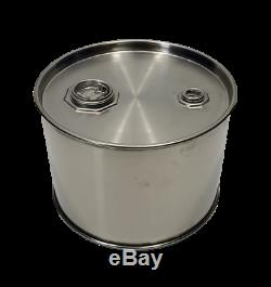 3 Gallon Stainless Steel Closed Top Barrel / Drum 1mm thick New