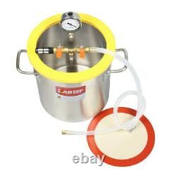 3 Gallon Stainless Steel Degassing Vacuum Chamber 7CFM Vacuum Pump from USA