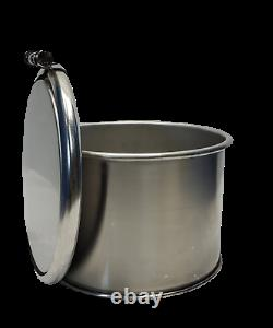 3 Gallon Stainless Steel Open Top Barrel / Drum 1mm thick New