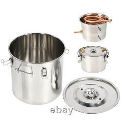 3 Pot 5/8 Gallon Water Wine Alcohol Distiller Moonshine Still Boiler Stainless