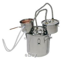 3 Pot 5 Gallon Water Wine Alcohol Distiller Moonshine Still Boiler Stainless New