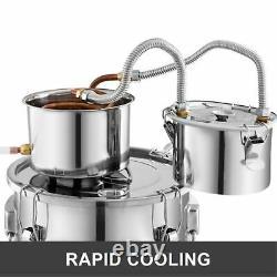 3 Pots 5 Gallon Home Diy Wine Water Distiller Moonshine Still Boiler Kit