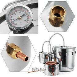 3 Pots Moonshine Still Kit Home Distiller High Seal Boiler with Copper Tube 8Gal