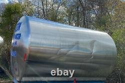 3000 Gallon Horizontal Stainless Steel Tank