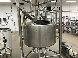 316 Stainless Steel Mixing Tank 200 Gallon (CREPACO)