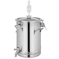 4/7/7.5/14Gal Brew Bucket Fermenter Brewing Kettle 304 Grade withStainless Handles