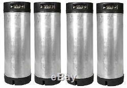 4 Pack of 5 Gallon Ball Lock Kegs Reconditioned Homebrew Beer Tea + O-Ring Kit