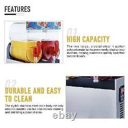 400W Commercial Frozen Drink Maker Slushie and Margarita Machine 2 x 4 Gal