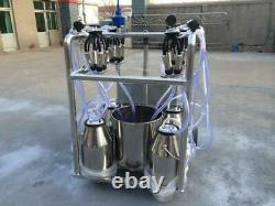 4mul8 Machinery Self-Cleaning Quad-Tank 4 CowithGoat Milking Machine 6.6 Gallon