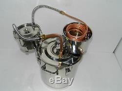 5 Gal Alcohol Distiller Moonshine Still Boiler Stainless Copper 20L Thumper Keg