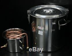 5 Gallon 18L Water Distiller Wine Alcohol Stainless Steel Boiler Wine Making Kit