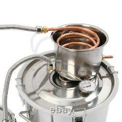 5 Gallon 3 Pot D-istiller System Stainless Water Alcohol Wine Moonshine Boiler