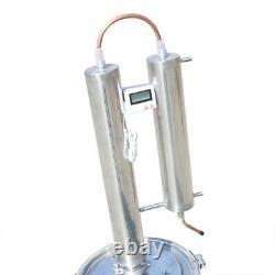 5 Gallon Alcohol Distiller Brewing Kit Moonshine Still Stainless Wine Boiler Kit