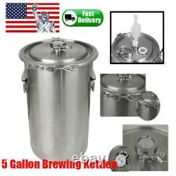5 Gallon Stainless Steel Brew Kettle Lid Homebrew Homebrewing Beer Making Kit