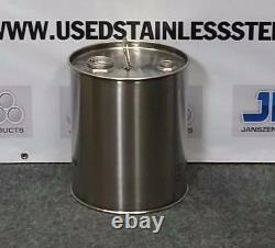 5 Gallon Stainless Steel Drum Closed Top Barrel 1mm thick High Quality