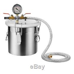 5 Gallon Stainless Steel Vacuum Chamber Degass Urethanes Silicone Epoxies