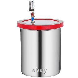 5 Gallon Stainless Steel Vacuum Chamber kit Degassing Urethanes Silicone Epoxies