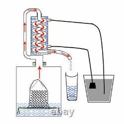 5 Gallon Water Wine Alcohol Distiller Moonshine Still Boiler 304 Stainless Steel