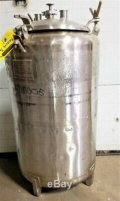 50-Gallon LETSCH STAINLESS STEEL PRESSURE TANK DOME TOP FERMENTOR 10 psig #1